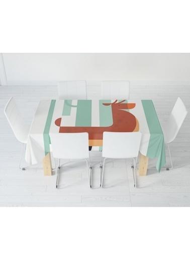 Artikel Geyik Figürlü Masa Örtüsü 140X160Cm Renkli